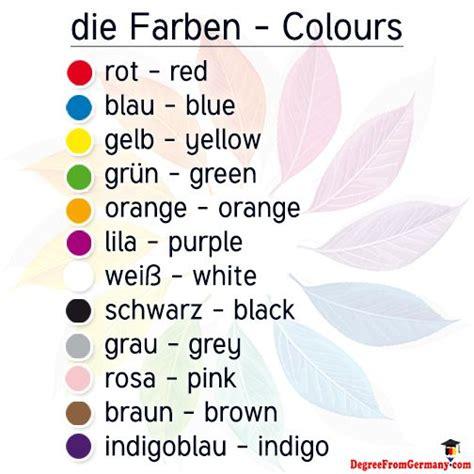 colors in german colours in german language via www degreefromgermany