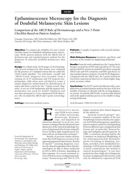 pattern analysis of skin lesions epiluminescence microscopy for the diagnosis of doubtful