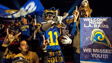 what city are the rams from was there a rams effect on los angeles real estate