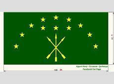 Adygea Flag, Adige Bayrağı, Adygea Flag, Adıge Bayrağı ... H