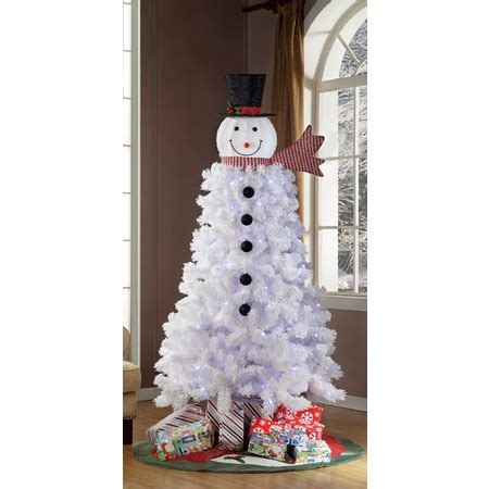 4 ft snowman christmas tree time pre lit 6 5 ft snowman tree walmart