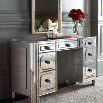 Horchow Mirrored Vanity by Quot Logan Quot Mirrored Vanity Desk Horchow From Horchow Where The