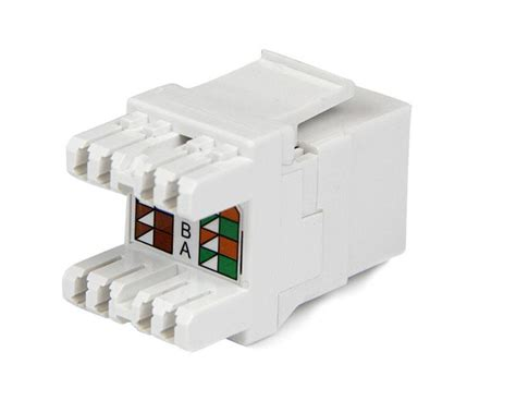 ethernet wall jack wiring cat6 keystone rj45 ethernet 180 degree 110 type