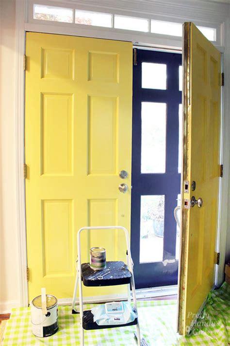 Good Day Sunshine   Yellow Painted Doors   Pretty Handy Girl