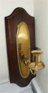 vintage mid century danish modern brass amp wooden wall