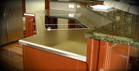Residential Stainless Steel Countertops by Custom Stainless Steel Fabrication New Carlisle Ohio