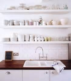 ideas for kitchen shelves 40 ideas of using open shelves on a kitchen shelterness