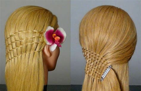 hairstyles for long hair step by step instructions for braids быстрая прическа французский водопад waterfall twist
