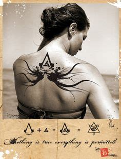 tattoo assassins stages awesome geek tattoos skyrim assassins creed tolkien