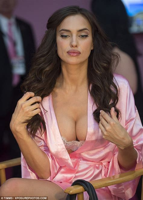backstage secrets a decade the of the s secret fashion show books irina shayk flaunts eye popping cleavage in a white