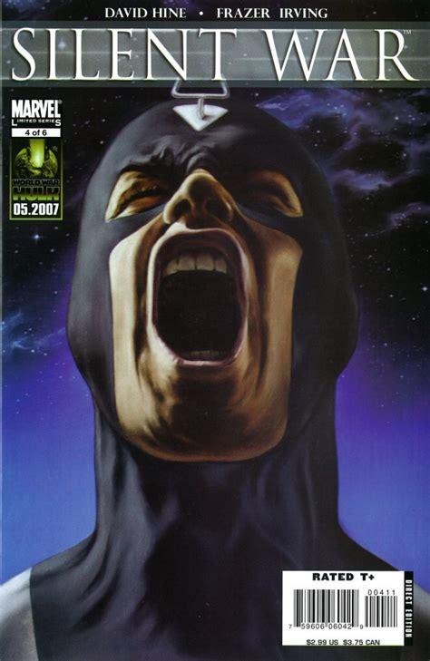 the silent war volume 1 books silent war vol 1 4 marvel comics database