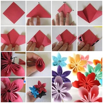 How To Make Cool Paper Crafts - cool creativity how to fold diy kusudama paper
