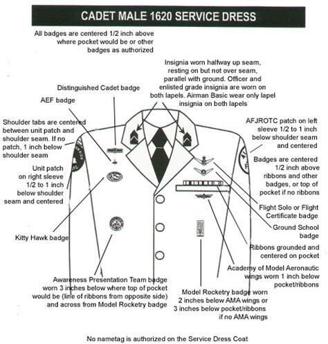 air force rotc uniform guide fl 034 rutherford high school afjrotc springfield florida