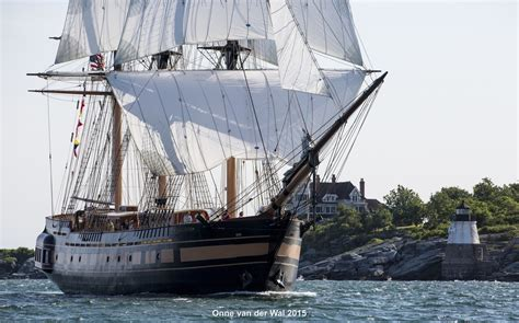 hinckley boat yard rhode island ri tall ship oliver hazard perry sails for first time