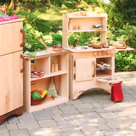 Handmade Wooden Play Kitchen - camden toys home goods waldorf inspired