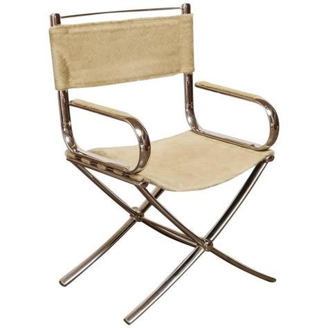 Director Chairs For Sale by Chrome And Cowhide Johnsonian Director S Chair By Eric