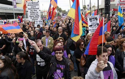 armenians in ottoman empire thousands march in los angeles to commemorate armenian