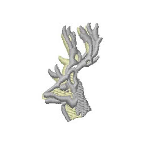 stag head designs internet stitch embroidery design stag head 1 77 inches h