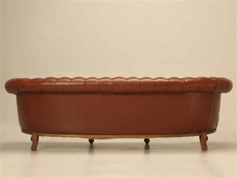 french style leather sofa french leather tufted chesterfield style sofa at 1stdibs