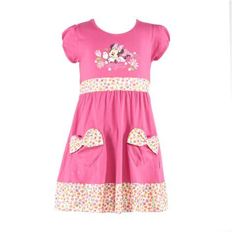 Dress Anak Bulu Minnie Mouse jual disney minnie mouse pink dress anak harga