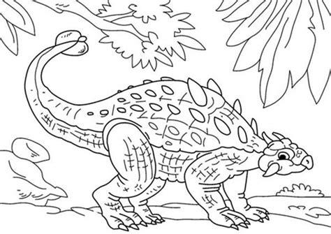 ankylosaurus hide  enemy coloring page coloring
