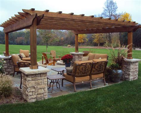 stand alone traditional patio pergola design pictures