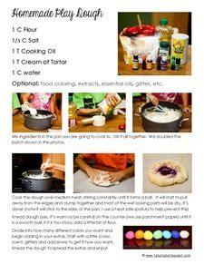 printable playdough recipes homemade play dough printable recipe 1 1 1 1