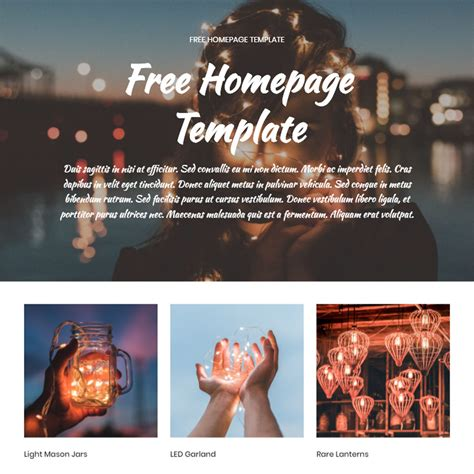 homepage template free free bootstrap 4 template 2019