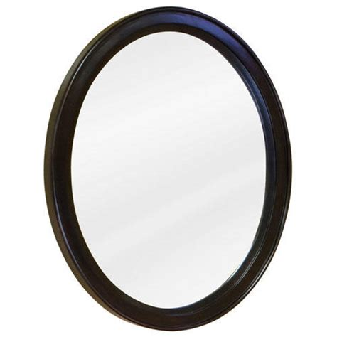 oval vanity mirror espresso bathroom