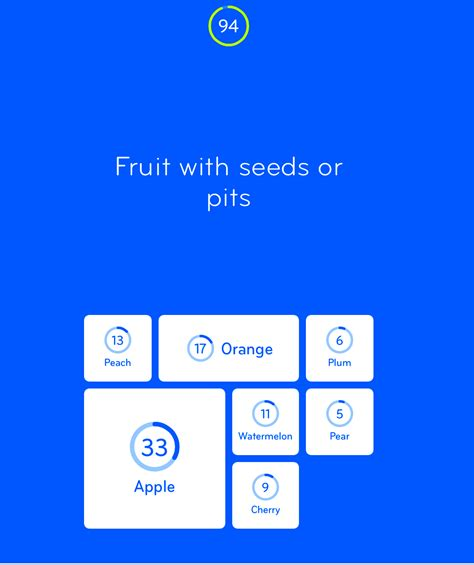 fruit with seeds or pits 94 level 1 fruit with seeds or pits answer 94