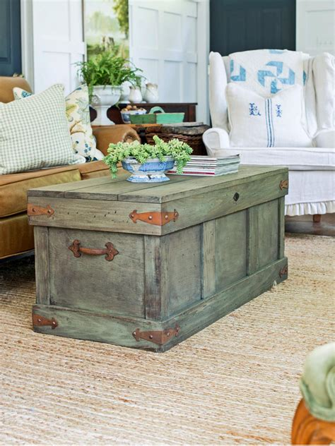 rustic style coffee table how to construct a rustic trunk style coffee table hgtv