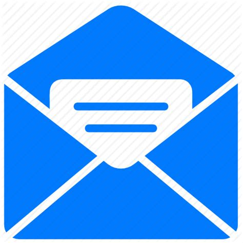 email layout icon 16 blue letter icon images blue email envelope icon