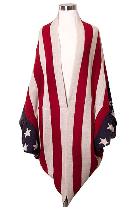 draped over american flag draped cardigan american flag at