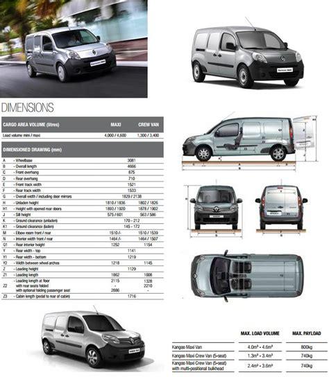 Renault Kangoo Load Length Renault Kangoo Maxi Dimensions