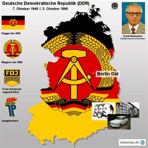 die ddr deutsche demokratische republik ddr von ronnys landkarte f 252 r ostdeutschland