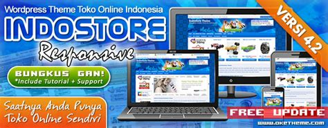 theme toko online indonesia gratis template wordpress website toko online indostore theme v4