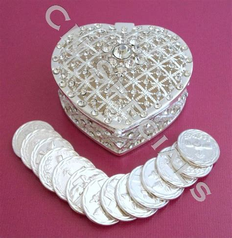 Wedding Lasso Box by Silver Rhinestone Wedding Arras Box Unity