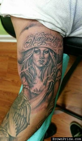 charra on right half sleeve for