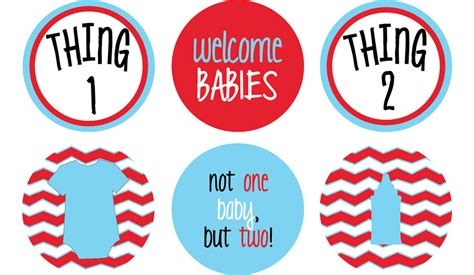 Thing 1 And Thing 2 Baby Shower by Thing 1 Thing 2 Baby Shower Circles