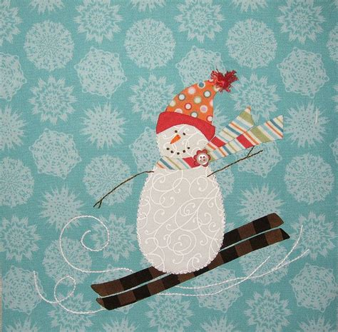 17 best images about snowman quilts on