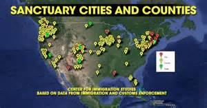 sanctuary cities map in us muskegonpundit report sanctuary cities received 27
