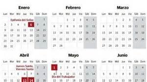 Calendario Con Puentes 2017 Calendario Laboral 2017 Avalancha De Puentes
