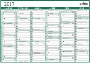 Kalender 2018 Norge Platekalender Grieg A4 Enkel 2017 Veggkalendere