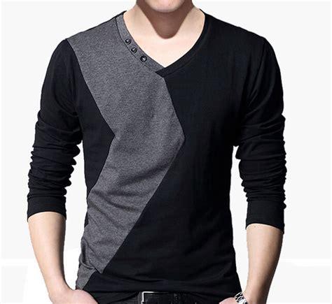 Fashion Mens T Shirt fashion s v neck sleeve casual t shirts mens slim