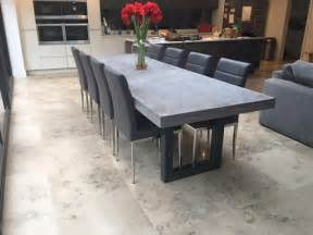 Concrete Dining Room Table Dining Room Table Perfect Design Concrete Dining Table
