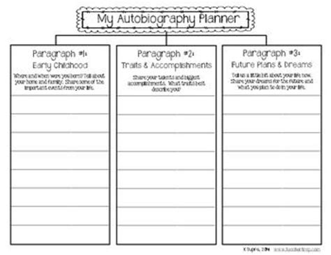 biography planning template 17 beste idee 235 n autobiography project op