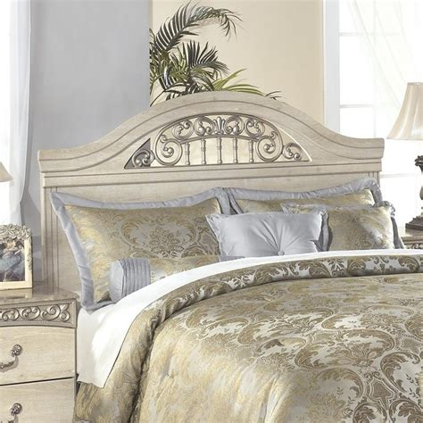 white wooden headboard queen ashley catalina wood full queen panel headboard in antique