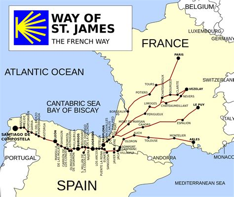 map camino de santiago camino de santiago route descriptions