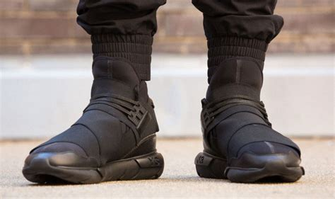 new adidas y 3 qasa high all black yohji yamamoto sneakers