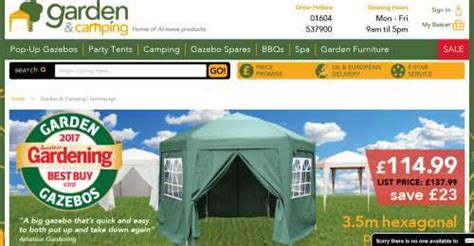 garden camping discount code     january